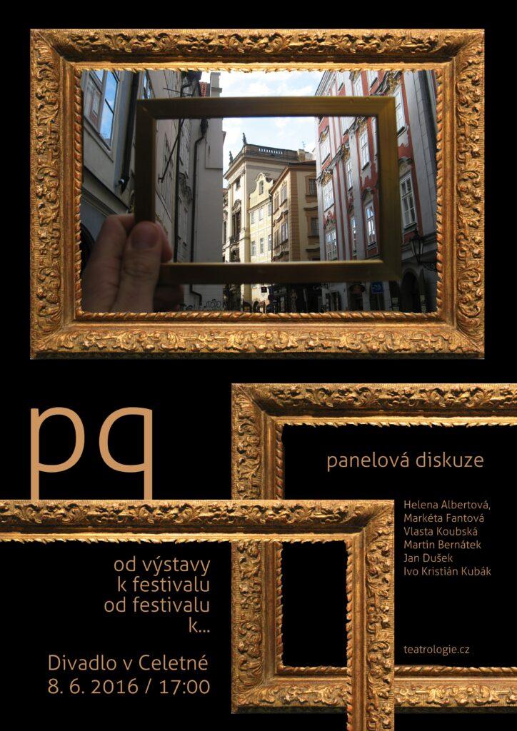 Teatrologická společnost zve na panelovou diskuzi o Pražském Quadriennale