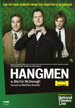 NT Live představí nejlepší novou hru roku 2015, McDonaghovu černou komedii Hangmen