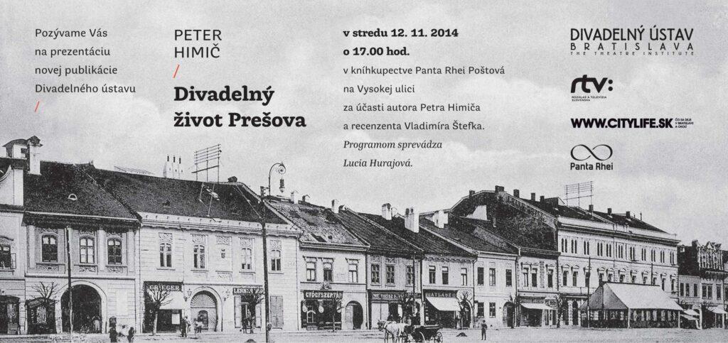 Prezentácia publikácie Divadelný život Prešova