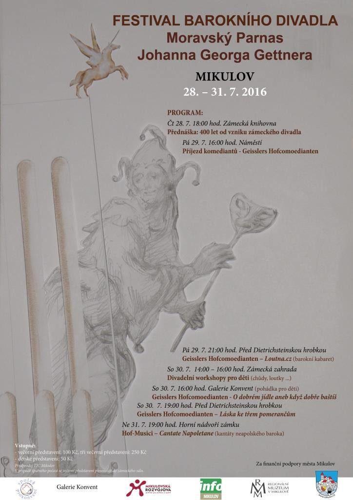 Barokní festival v Mikulově připomene 400 let od vzniku divadla