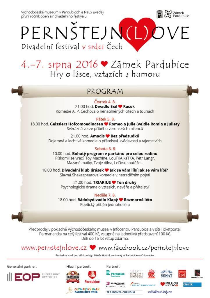 Pardubice zahajují divadelní festival o lásce a vztazích