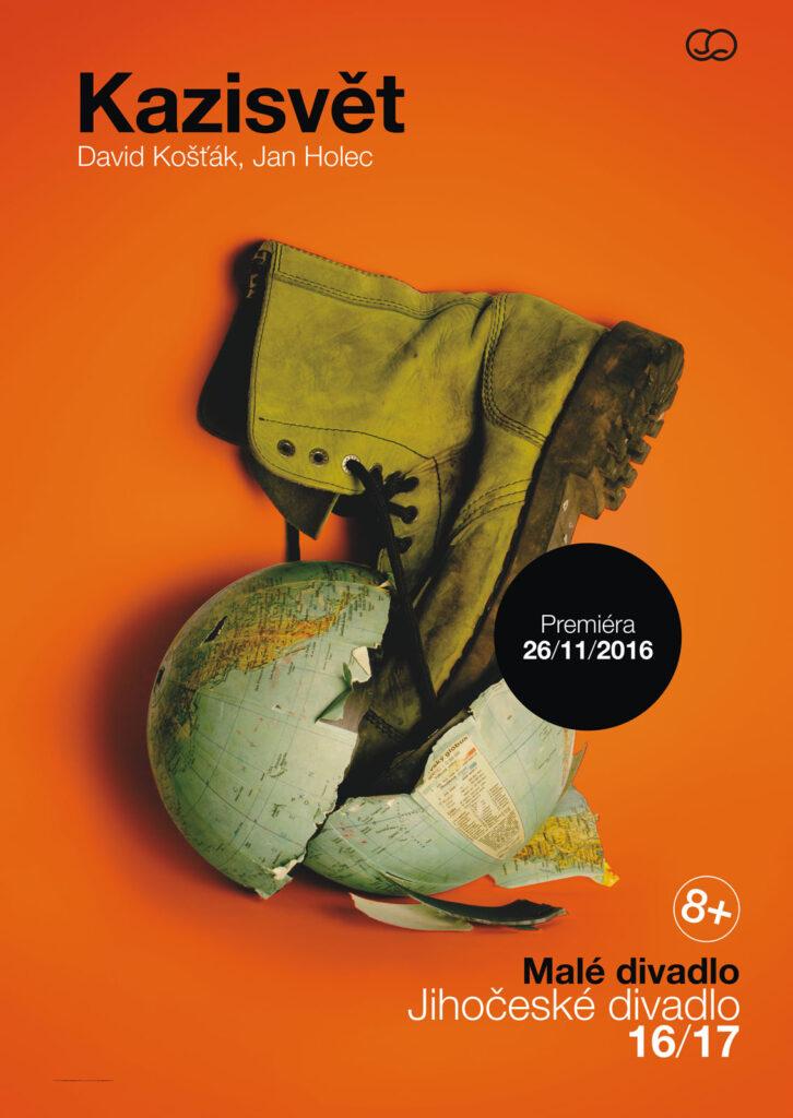 Druhou premiérou letošní sezóny v Malém divadle v Českých Budějovicích je autorská inscenace Kazisvět