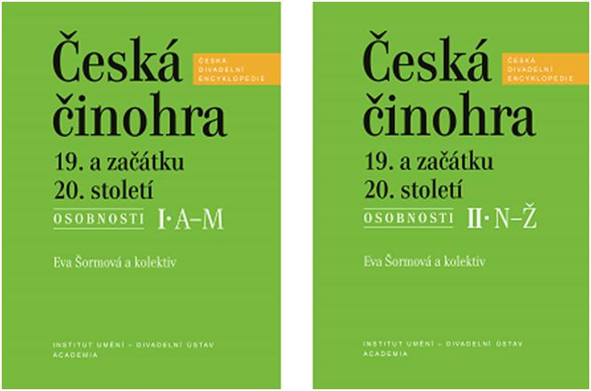 Publikace Česká činohra 19. a začátku 20. století – Osobnosti byla nominována na Cenu Divadelních novin 2016