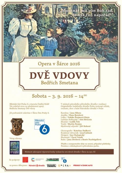 Přírodní divadlo v Šárce uvede 3. září Smetanovu operu Dvě vdovy