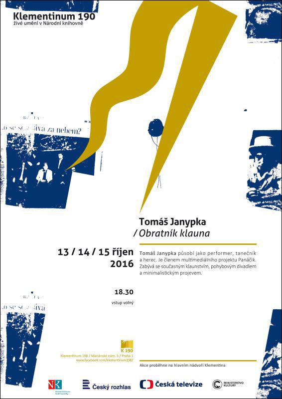 Klementinum 190 zve na vystoupení Tomáše Janypky