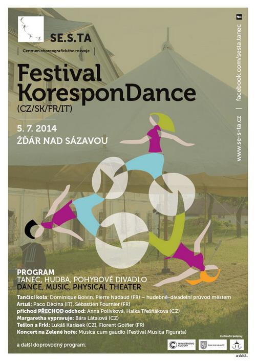 Festival KoresponDance ve Žďáru nad Sázavou zahájí Tančící kola