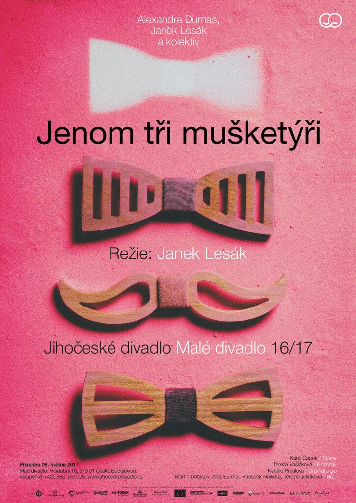 Divadelní sezónu 2016/17 zakončí Jihočeské divadlo plenérovou inscenací Jenom tři mušketýři