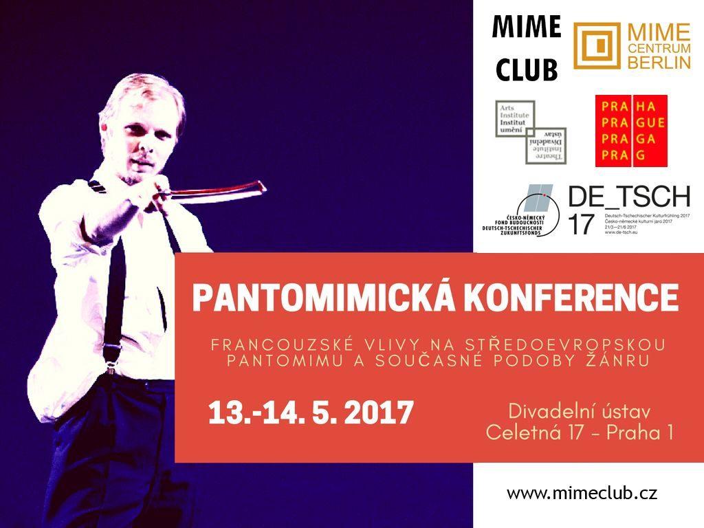 Pozvánka na mezinárodní Pantomimickou konferenci