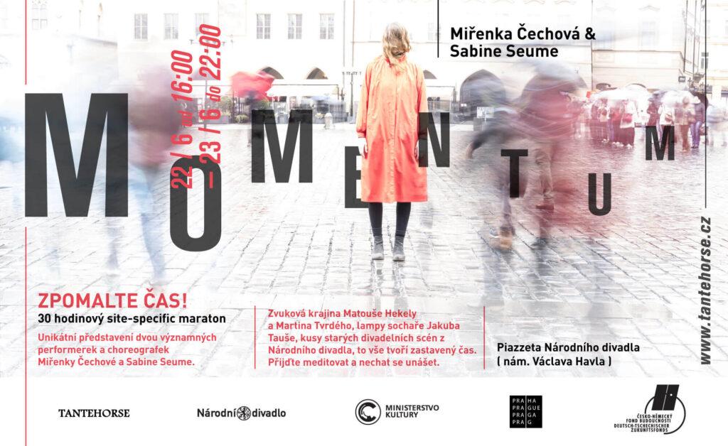 Momentum: 30ti hodinové taneční představení Miřenky Čechové na piazzettě Národního divadla