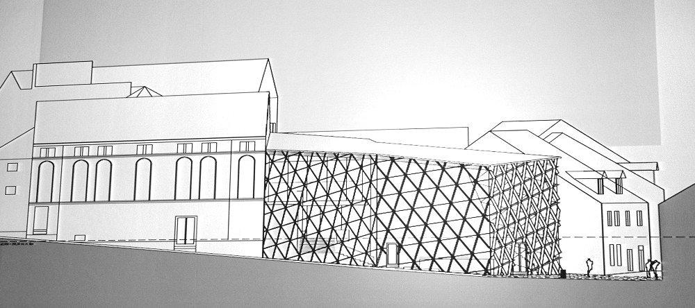 Turnov si pro podobu přístavby divadla vybral variantu se sklem a kovem