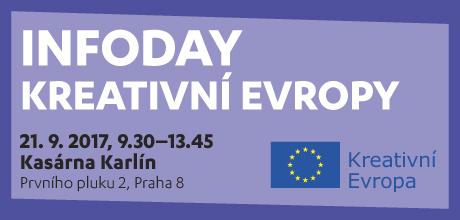 Infoday Kreativní Evropy (21. 9., Kasárna Karlín, Praha)
