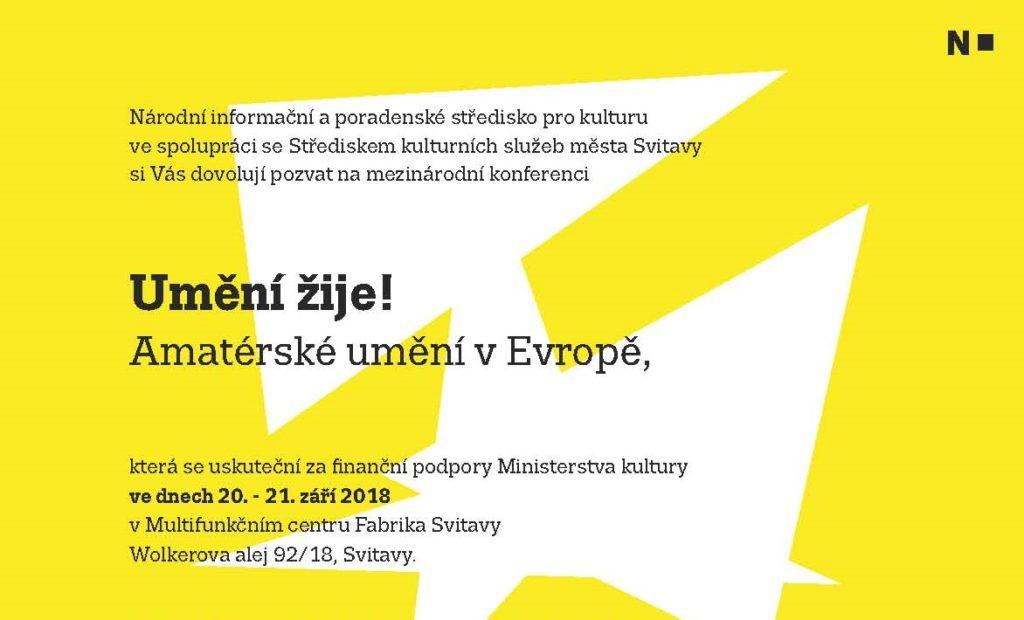 Mezinárodní konference Umění žije! Amatérské umění v Evropě