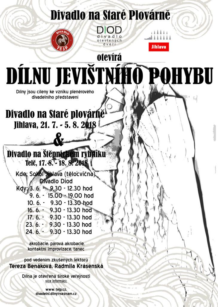 DivadlaTEJP a DIOD znovu oživila divadelní dílnou Starou plovárnu v Jihlavě