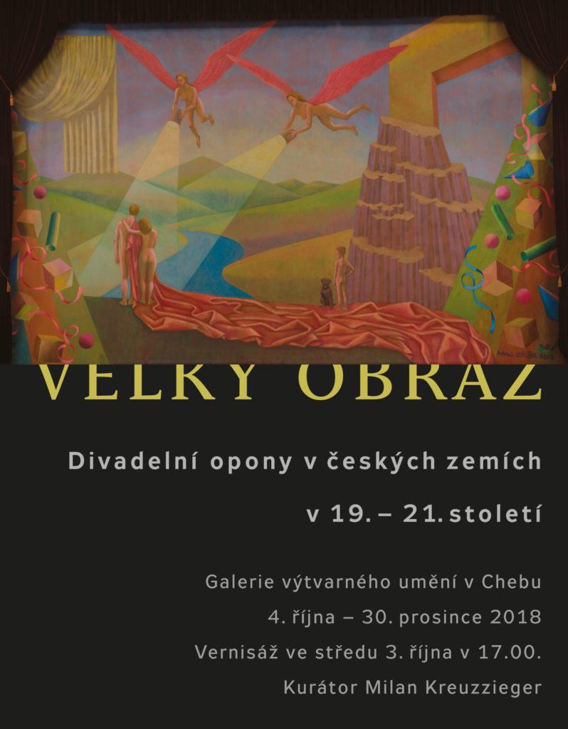 Pozvánka na výstavu Velký obraz: Divadelní opony v českých zemích v 19. – 21. století