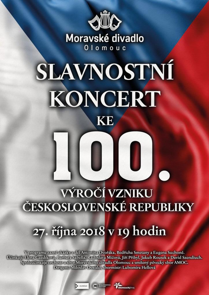 Moravské divadlo Olomouc připravilo slavnostní koncert ke 100. výročí vzniku Československé republiky