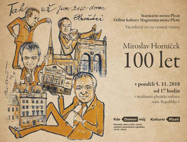 Výstava v Plzni připomíná sto let od narození Miroslava Horníčka