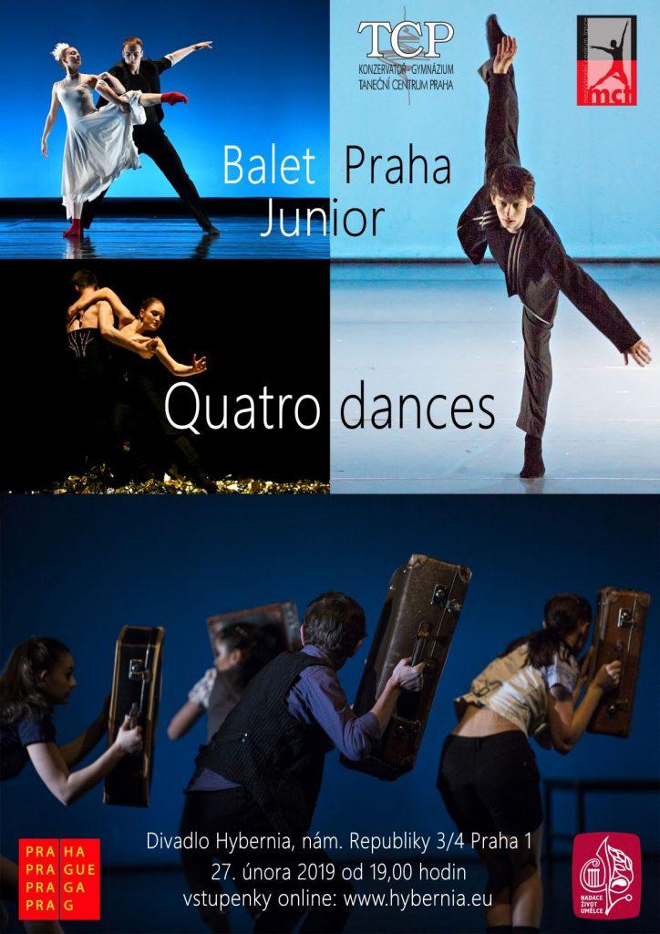 Balet Praha Junior uvede novou premiéru Quatro Dances 2019