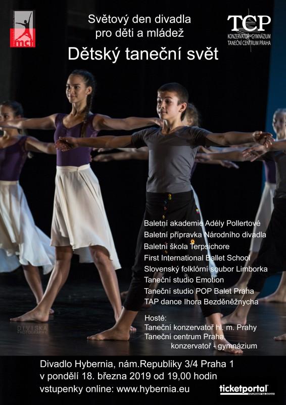 Taneční centrum Praha oslaví Světový den divadla pro děti a mládež představením v divadle Hybernia