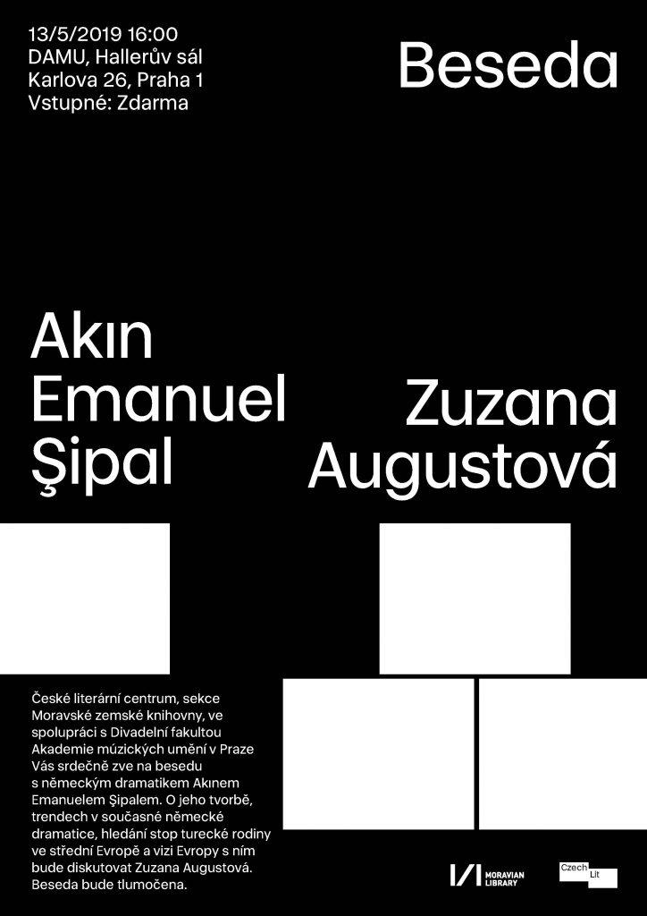 Pozvánka na besedu s němekým dramatikem Akınem Emanuelem Şipalem