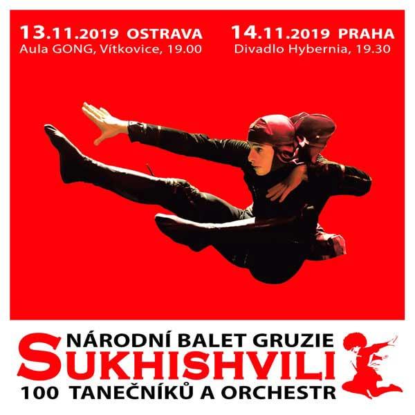 Národní balet Gruzie SUKHISHVILI vystoupí na podzim v Ostravě a v Praze