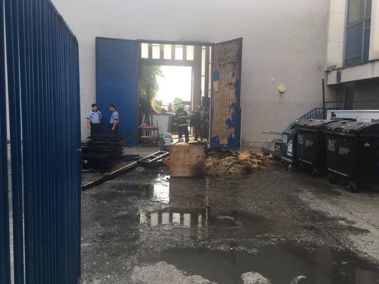 V budově MěstskéhodivadlaZlín hořel sklad kulis