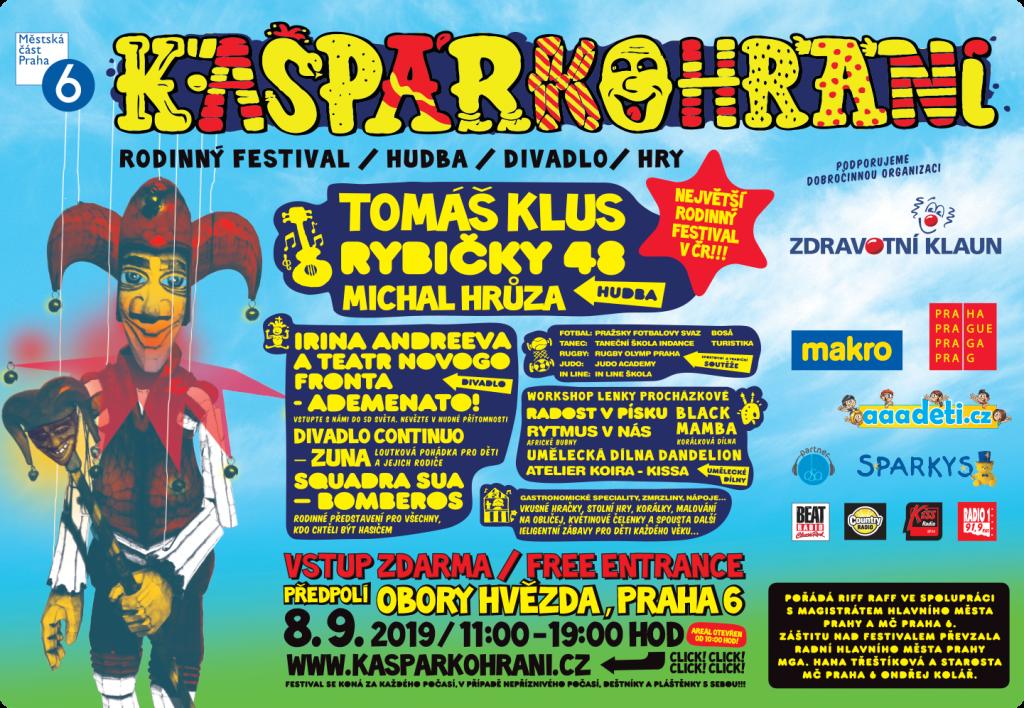 V neděli 8. září se uskuteční jedenáctý ročník rodinného festivalu Kašpárkohraní