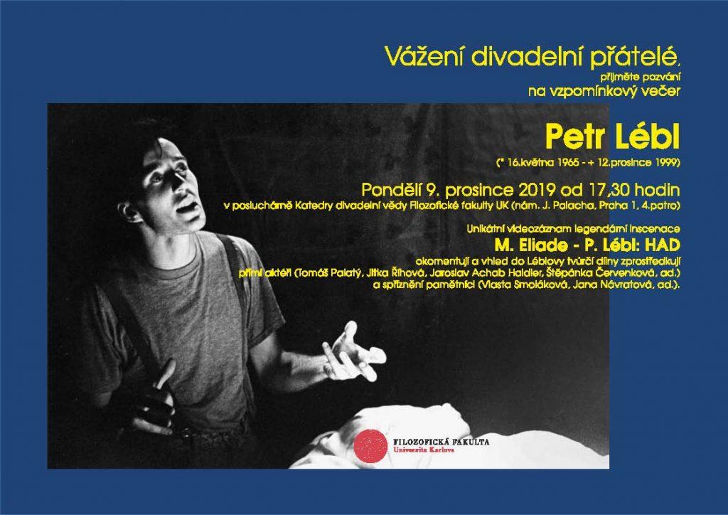 Vzpomínkový večer – Petr Lébl/Mircea Eliade: Had