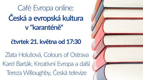 """Pozvánka na online debatu: Česká a evropská kultura v """"karanténě"""""""
