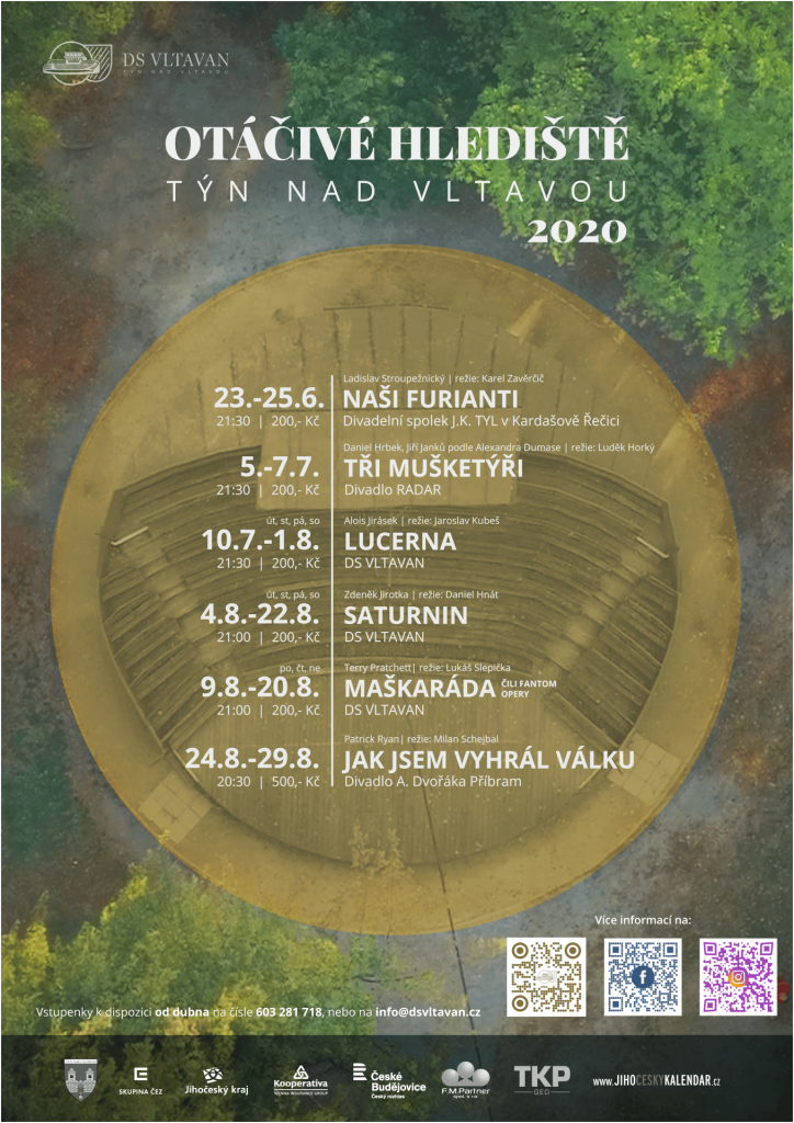 Otáčivé hlediště v Týně nad Vltavou nabídne i letos několik inscenací