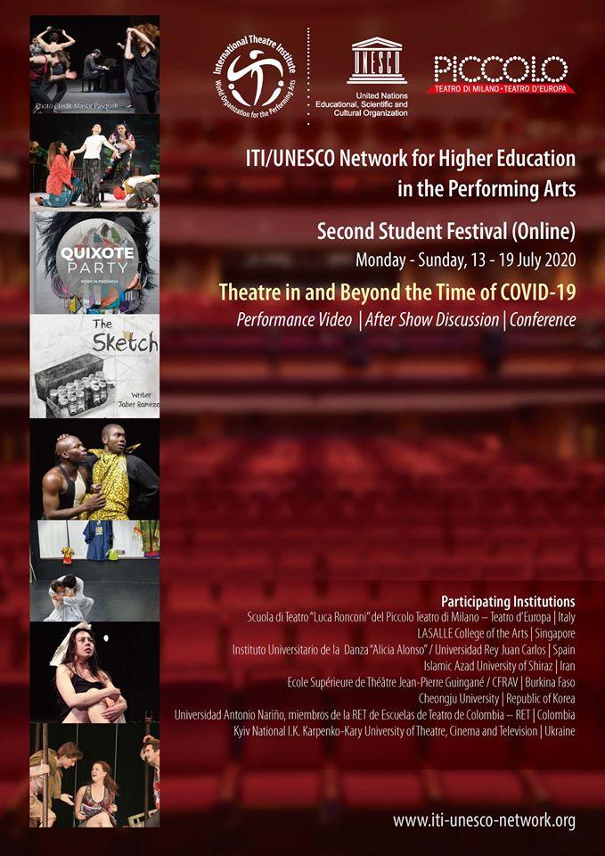 Právě probíhá online studentský festival networku ITI/UNESCO, který sdružuje vysoké školy scénických umění celého světa