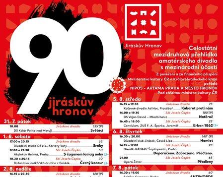 Festival Jiráskův Hronov nabídne asi 80 představení