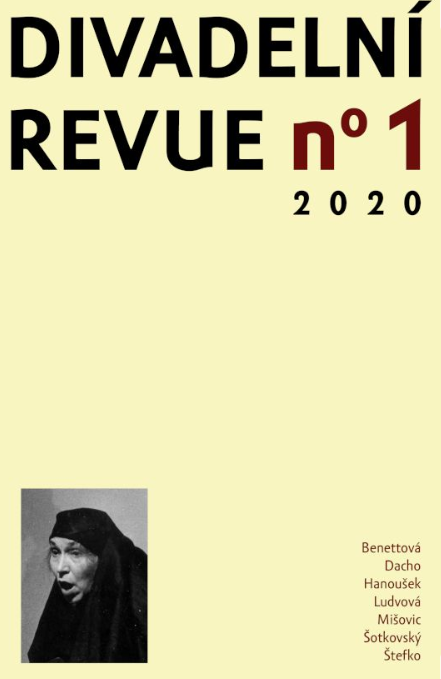Vyšla Divadelní revue 31, 2020, n° 1