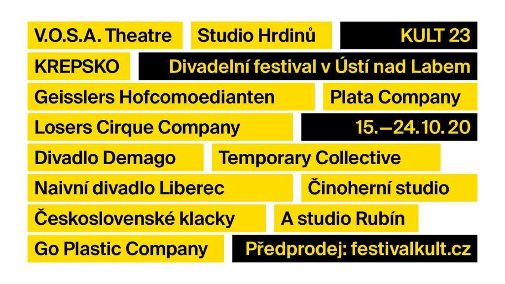 Divadelní festival Kult v Ústí nad Labem je kvůli vládním opatřením zrušen