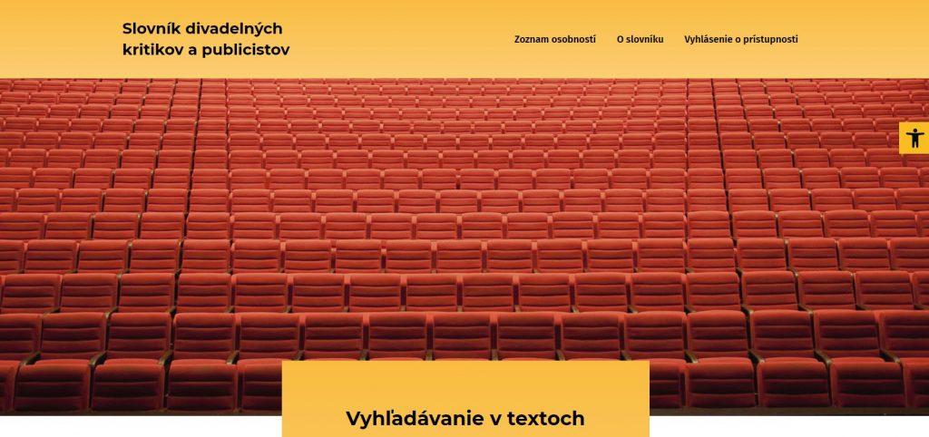 Divadelný ústav Bratislava: Spustili sme online Slovník divadelných kritikov a publicistov