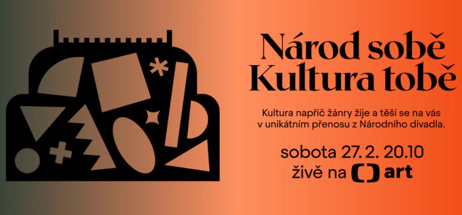 Přímý přenos koncertu z Národního divadla: Národ sobě – kultura tobě