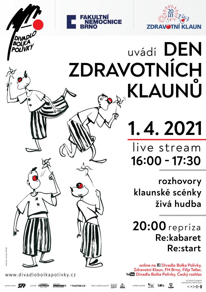 Oslavte společně s Divadlem Bolka Polívky aprílový Den Zdravotních klaunů online
