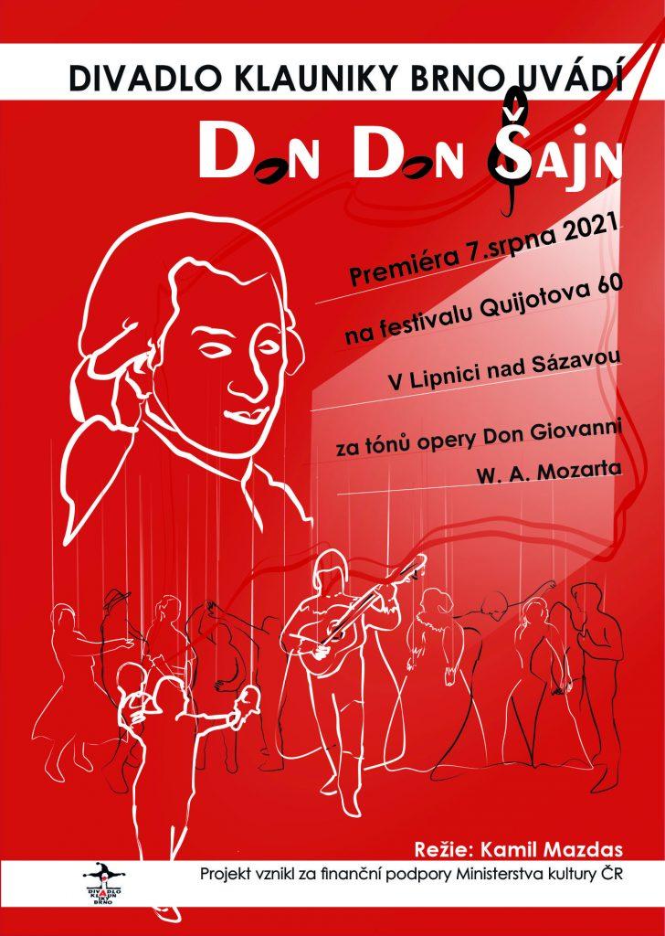Divadlo Klauniky uvede v Lipnici nad Sázavou premiéru inscenace Don don Šajn