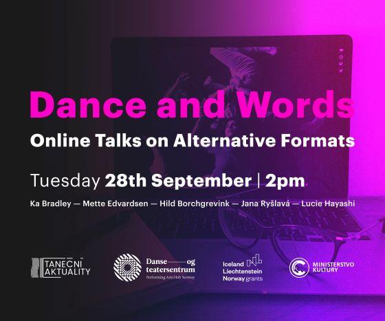 Pozvánka na panelovou diskusi: Tanec a slovo – online hovory o alternativních formátech