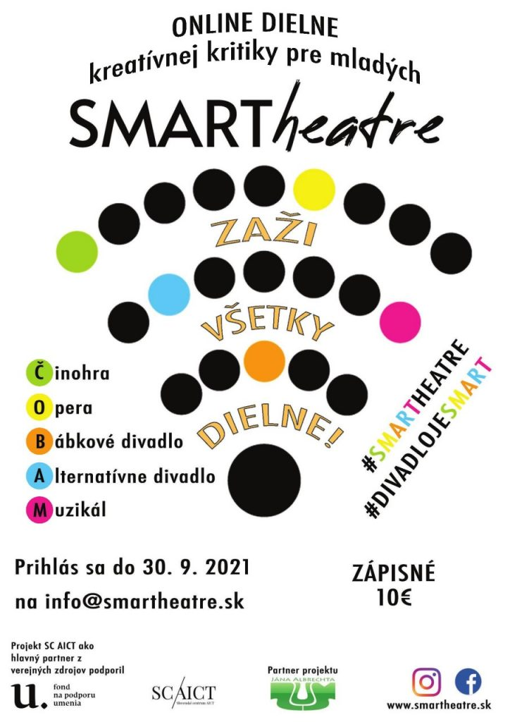 Pokračuje úspešný online projekt zameraný na mladého diváka – SMARTheatre